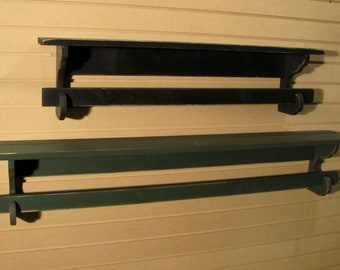 "Primitive Quilt Rack - 42"" Long - Rustic Country Style Wall Hanging Quilt or Towel Rack - Color Choice - FREE SHIPPING"