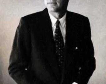 President John F. Kennedy Poise 12x18 LE 50 Art Print