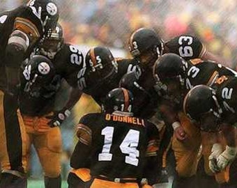 Pittsburgh Steelers Neil O'Donnell Huddle Art