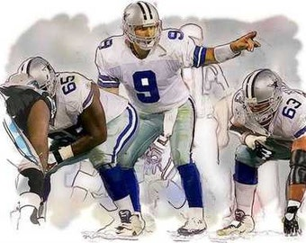 New Tony Romo Dallas Cowboys Rare Art Print, only 50