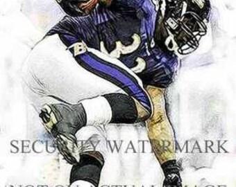 New LaRon McClain Baltimore Ravens Art Print only 50
