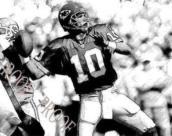 Rare Trent Green Sketch Style Art Chiefs12x18 LE 50