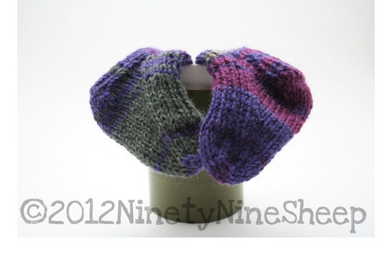 Items similar to Hand Knitted Striped Stay Baby Socks