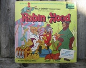 Walt Disney Productions' Story and Songs from Robin Hood - Vintage record album and book