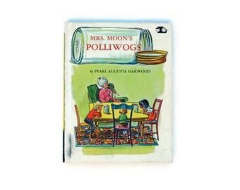 SALE Vintage Mrs. Moon's Polliwogs Children's Book, 1972