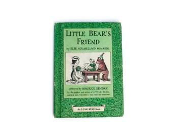 Little Bear's Friends, SALE, Green, 1960, vintage book