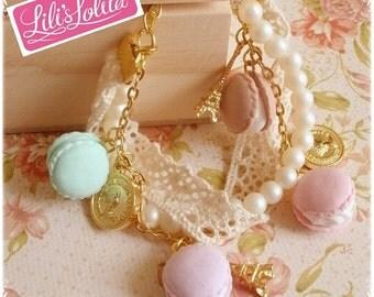 Pretty Elegant Pastel Macaron Bracelet