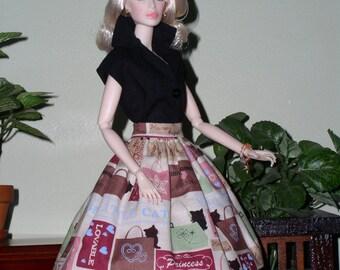 Hand Crafted Barbie doll fashion.