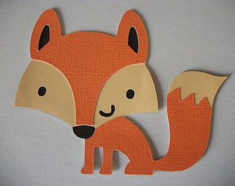 Cricut Create a Critter Fox winter Die Cut Paper Piecing Scrapbooking