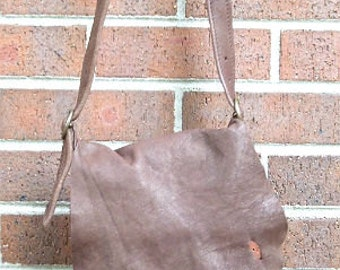 Chocolaty-Brown buffalo leather cross  body  bag. women.spring-summer  style.