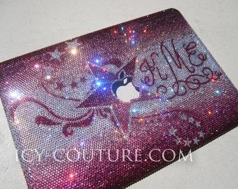 SWIRLS & STARS Swarovski Crystal Macbook Pro cover case