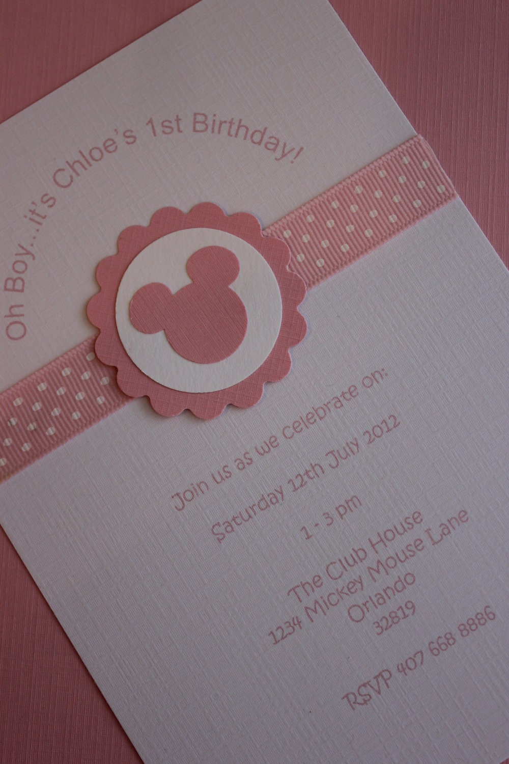 12x Minnie Mouse Invitations with Envelope Birthday