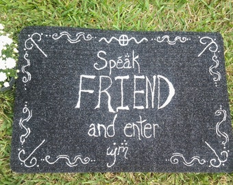 Speak Friend And Enter Lord Of The Rings Movie Poster Sign