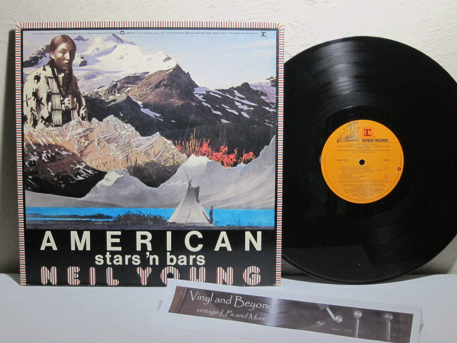 Neil Young American Stars 'n Bars Vinyl LP record
