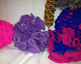 Purple 3D Crocheted Coral Decoration