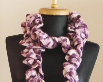 free worldwide shipping, handmade crochet purple tone neckwarmer, scarf, cowl ready to ship