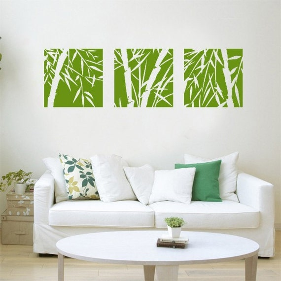Bamboo wall decalsbamboo wall decalbamboo by clarkwallartdecal for Bamboo home decorations