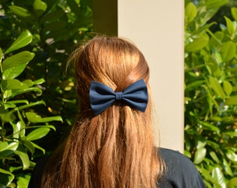 Navy blue hair bows,girls hair bows,bows for girls,navy blue bows