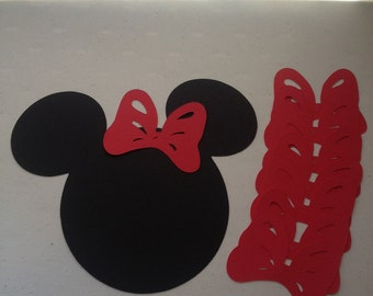 Pin the Bow on Minnie Mouse 8 red bows.