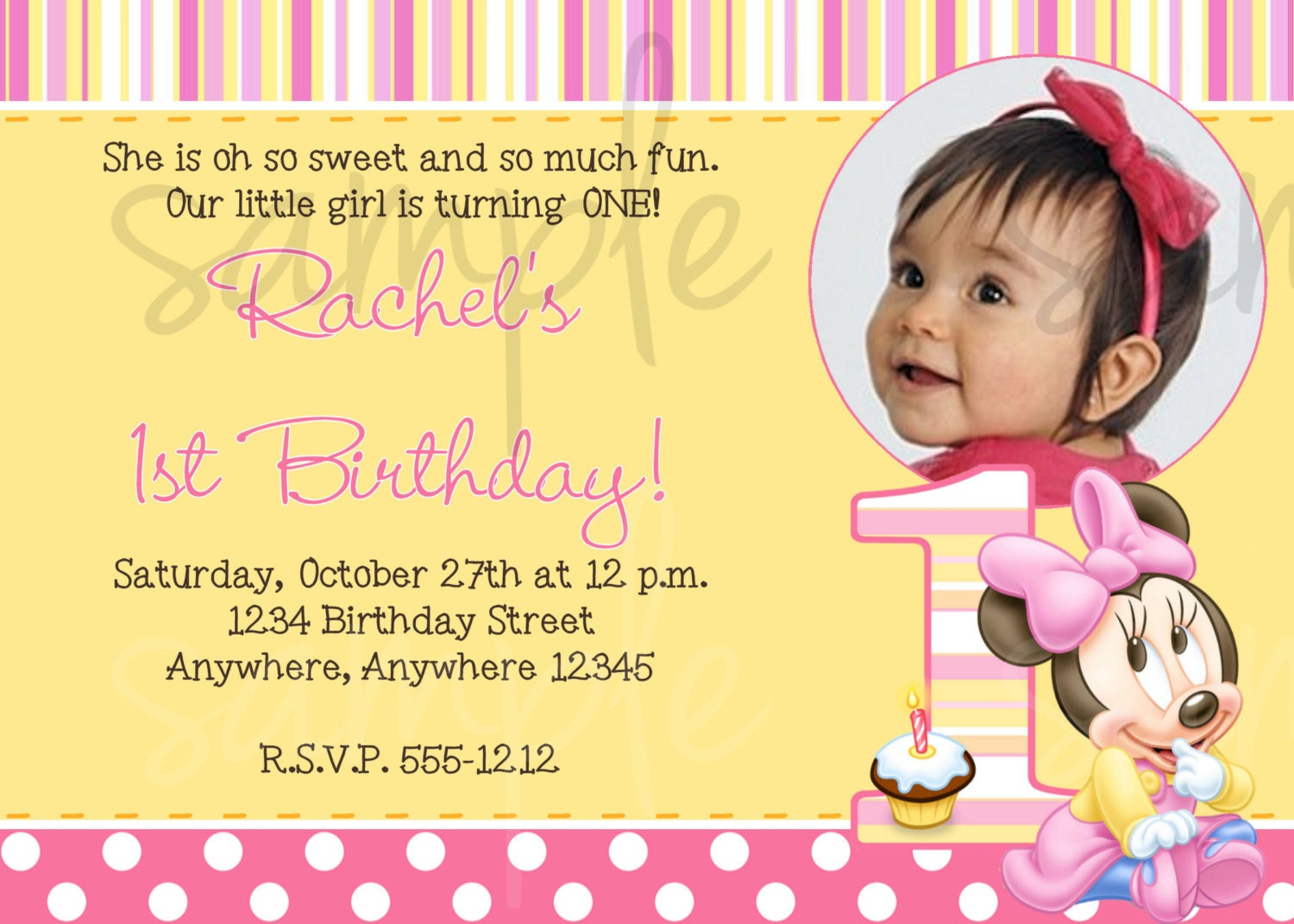 Minnie mouse 1st birthday invitation wording related keywords and tags minnie mouse 1st birthday invitation by lovelifeinvites on filmwisefo