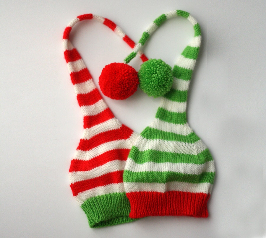Christmas hat kids Christmas knitted hat Santa hat Red