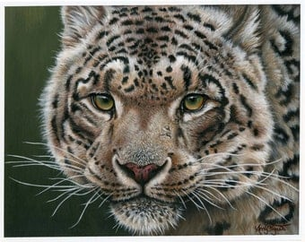 Snow Leopard Painting-Print
