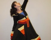 "Upcycled Wool Sweater Coat, Elf Style Coat, ""Fall Festival Sweater Coat,"" Katwise inspired"