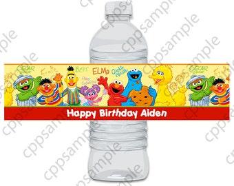 Sesame Street Water Bottle Label - Digital File