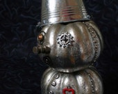 OOAK Tin Man Pumpkin - TheCharmedGourd