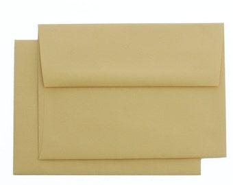 25 A6 Mustard Yellow Envelopes - for 4x6 announcement and invitation   Hard to find color