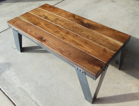 Items Similar To Vintage Industrial Coffee Table Modern