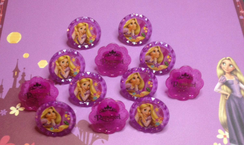 princess rapunzel cupcake rings from the disney tangled