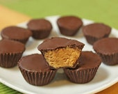 Peanut butter flax cups
