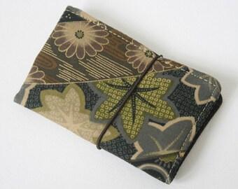 "Small Wallet ""Dark Kimono"", Buisness cards holder"