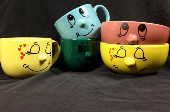 Livingware Collections Faces Mugs and Bowls