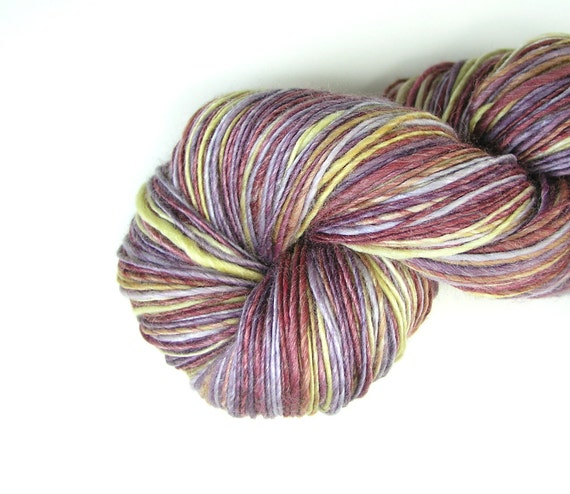 Sport Weight Handspun Yarn Merino Bamboo Silk by TheSavvyStitch