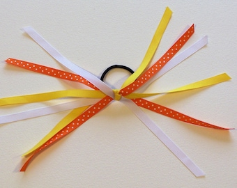 Shades of Candy Corn Pony Bow