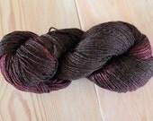 Brown Purple Wool Bamboo Sock Yarn - Moon Stone Farm