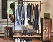 Vintage Pipe Clothing Rack