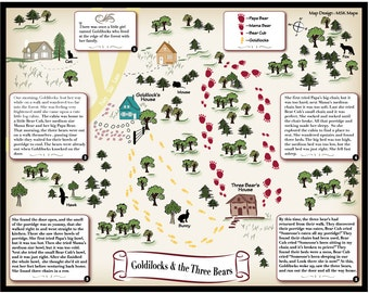 Little Red Riding Hood Fairy Tale Map