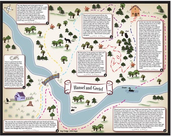 Hansel and Gretel - Fairy Tale Map