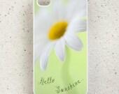 Hello Sunshine - iphone 4, 5, 6 case - smartphone - mobile - cover - daisy - marguerite - floral - Samsung Galaxy S3 S4 S5 mini