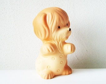 Puppy Dog Toy, Little Gift, Soviet Rubber Toy, Vintage Russian USSR Children Gift, Collectible Nursery Decoration