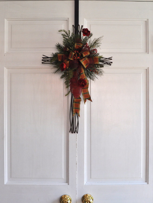 Religious Christmas Wall Decor : Christmas cross door hanger wall decor christian hostess gift