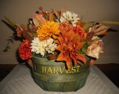 Fall Centerpiece, Autumn Centerpiece, Harvest Basket, Floral Arrangement
