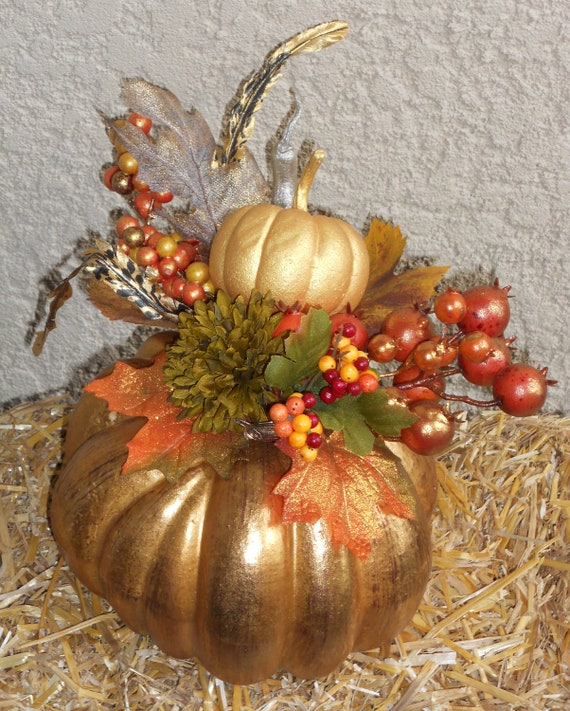 Fall pumpkin centerpiece autumn