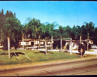 Vintage 1959 Postcard Rochelle Cottages Winter Haven, Florida