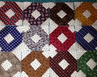 "Mini Civil War Reproduction Quilt Blocks 3"" Finished Doll Quilt CarolynsQuilting"