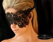 Black Lace Eye Veil Mask - Mystique