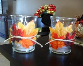 NEW LOW PRICE Fall leaf candle holder set